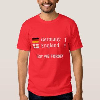 Inglaterra 5 Alemania 1 camiseta Polera