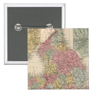 Inglaterra 9 pin cuadrada 5 cm