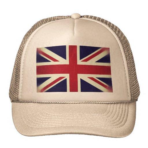 Inglaterra Bandeira Grunged Bonés