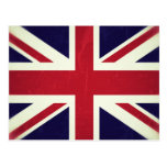 Inglaterra Bandeira Grunged Tarjeta Postal