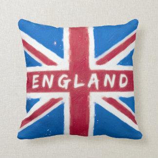 Inglaterra - bandera británica de Union Jack del v Cojines