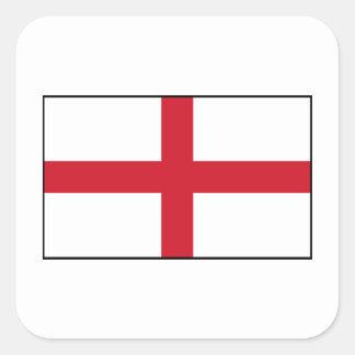 Inglaterra - bandera nacional inglesa pegatina cuadradas personalizadas