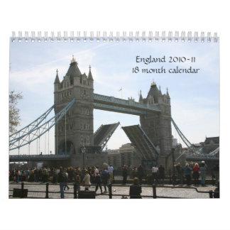 Inglaterra calendario de 2010-11 - 18 meses