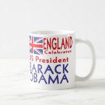 INGLATERRA celebra a presidente Obama Souvenirs de Tazas