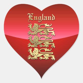 Inglaterra - CoA Pegatina En Forma De Corazón