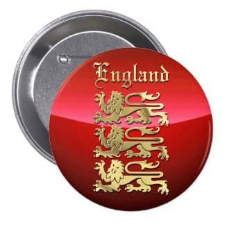 Inglaterra - CoA Pin Redondo 7 Cm