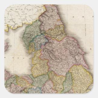 Inglaterra compuesta pegatinas cuadradases personalizadas