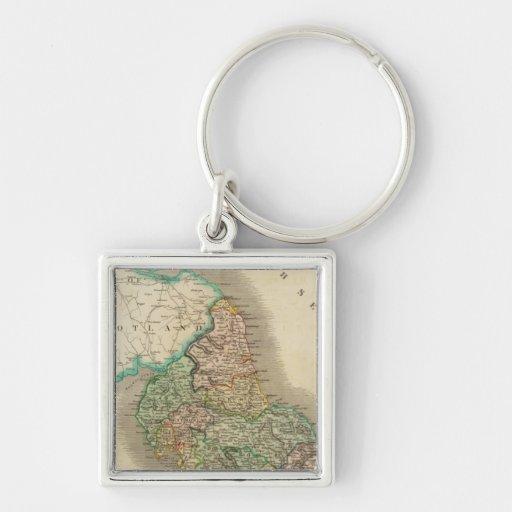 Inglaterra del norte llaveros personalizados