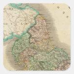 Inglaterra del norte pegatina cuadrada