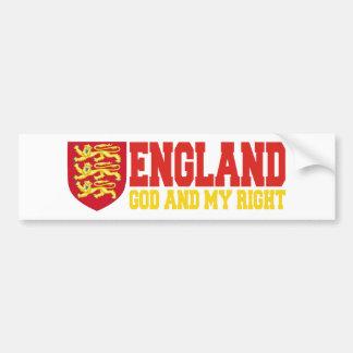 Inglaterra: Dios y la mi derecha Pegatina Para Auto