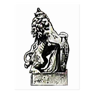Inglaterra el león 198 del camino del Buckingham Tarjeta Postal