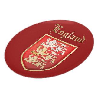 Inglaterra - escudo de armas plato de comida