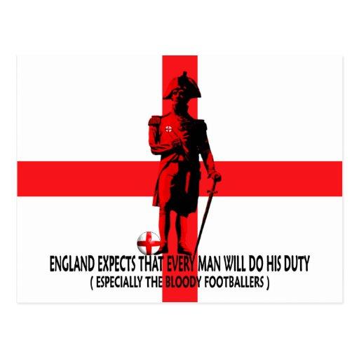 Inglaterra espera que cada hombre haga su deber postales