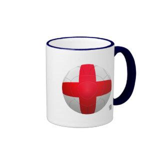 Inglaterra - fútbol de tres leones taza de café