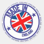 Inglaterra hecha pegatina redonda