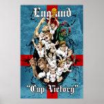 Inglaterra impresión del fútbol del fútbol de la v posters