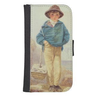 Inglaterra joven - muchacho de Fisher Funda Tipo Cartera Para Galaxy S4