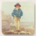 Inglaterra joven - muchacho de Fisher Posavasos De Bebida