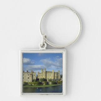 Inglaterra, Kent, Leeds Castle Llavero Cuadrado Plateado