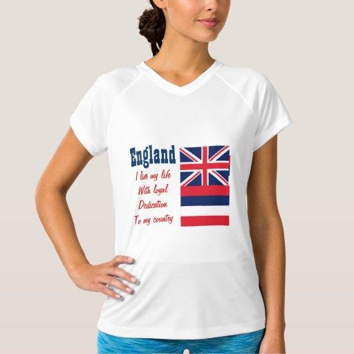 Inglaterra-lealtad a mis camisetas del país playeras