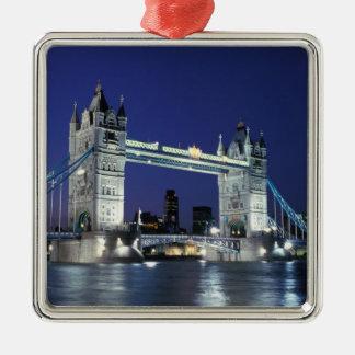 Inglaterra, Londres, puente 3 de la torre Adorno Navideño Cuadrado De Metal