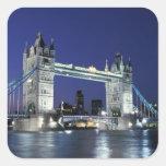 Inglaterra, Londres, puente 3 de la torre Calcomanías Cuadradases