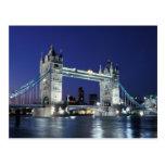 Inglaterra, Londres, puente 3 de la torre Tarjeta Postal