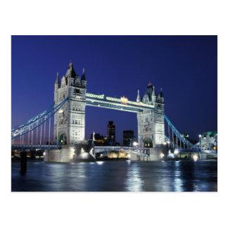 Inglaterra Londres puente 3 de la torre Tarjeta Postal