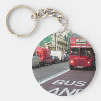 Inglaterra Londres RedBus (nuevo) (St.K) Llavero Redondo Tipo Pin