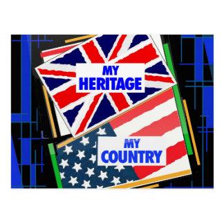 Inglaterra … mi herencia los E E U U … mi país Postales