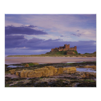 Inglaterra, Northumberland, castillo de Bamburgh Póster