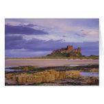 Inglaterra, Northumberland, castillo de Bamburgh Tarjeta De Felicitación