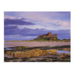 Inglaterra, Northumberland, castillo de Bamburgh Tarjetas Postales