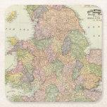 Inglaterra, País de Gales 2 Posavasos Desechable Cuadrado