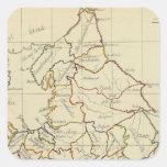 Inglaterra, País de Gales 4 Calcomanías Cuadradass Personalizadas