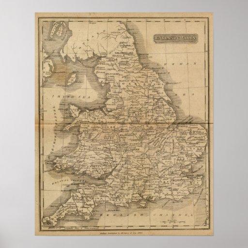 Inglaterra, País de Gales 4 Póster