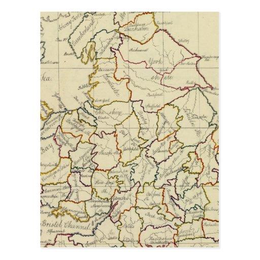 Inglaterra, País de Gales 4 Tarjeta Postal