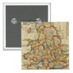 Inglaterra, País de Gales 6 Pin Cuadrada 5 Cm