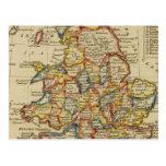 Inglaterra, País de Gales 6 Tarjeta Postal