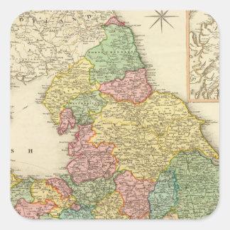 Inglaterra, País de Gales, Escocia Pegatina Cuadrada