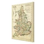 Inglaterra, País de Gales romano, moderna Impresiones En Lona