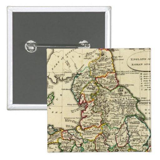 Inglaterra, País de Gales romano, moderna Pin Cuadrado