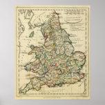 Inglaterra, País de Gales romano, moderna Póster