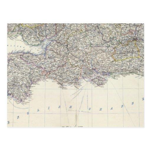 Inglaterra, País de Gales S Tarjeta Postal