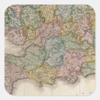 Inglaterra, parte meridional colcomanias cuadradas personalizadas
