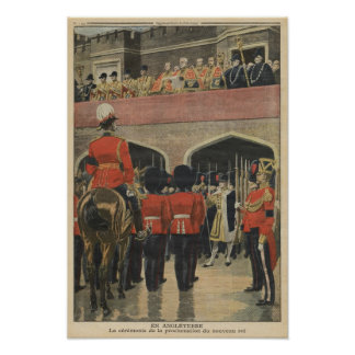 Inglaterra, proclamación del nuevo rey George V Póster