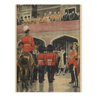 Inglaterra, proclamación del nuevo rey George V Tarjeta Postal