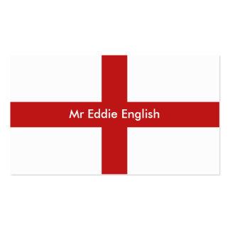 Inglaterra, Sr. Eddie english Tarjetas Personales