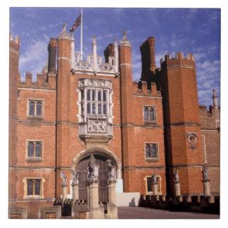 Inglaterra, Surrey, palacio del Hampton Court. 3 Azulejo Cuadrado Grande