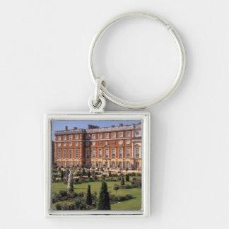 Inglaterra, Surrey, palacio del Hampton Court Llavero Cuadrado Plateado